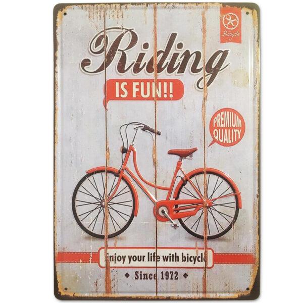Chapa Vintage Bicicleta