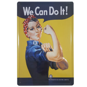 Chapa Vintage «We Can Do it» – Placa decorativa Retro Feminista