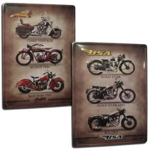 Pack 2 Chapas Decorativas Vintage / Motos Clásicas