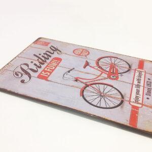 Placa Retro Metálica de pared / Bicicleta Vintage