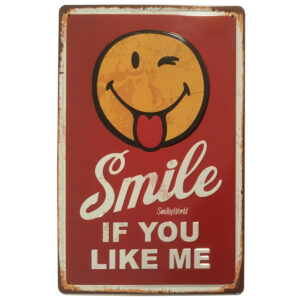 Placa Vintage para pared / Smile