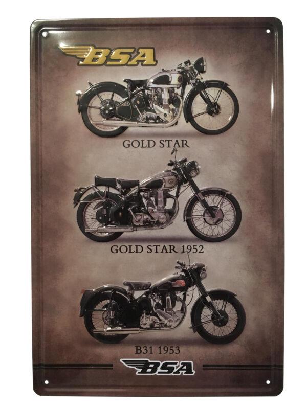 Chapa vintage motos BSA