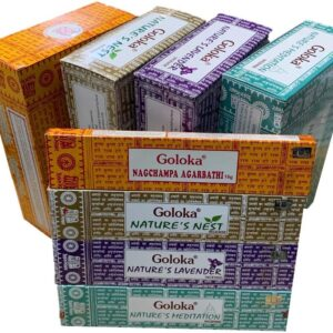 Pack 4 Inciensos Goloka (Nag Champa y Nature´s)