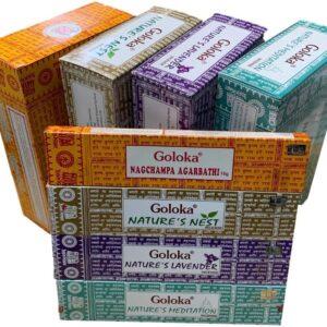 Pack 4 Inciensos Goloka (Nag Champa y Nature´s)