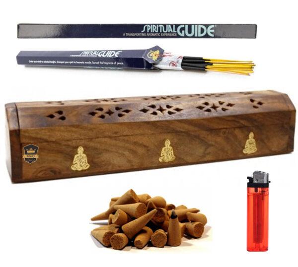 Incensario baul madera