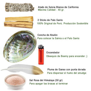 Set Sahumerio ( Smudge ) para Limpieza y Purificación Boemy